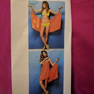 Other - Bathing suit cover-up wrap hot pink fuchia onesize